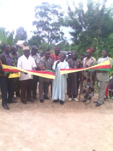 Assistant Divisional Officer for Ndop Central Sub Division Inaugurating the new constructed bridge